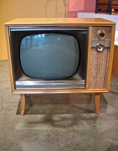photo of console television