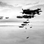 Public domain image of bombing strike