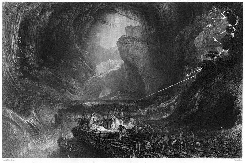 "William Miller's 1844 engraving ""The Deluge"" (after J. Martin)"