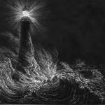 Bell_Rock_Lighthouse_from_Biographical_Sketch_of_the_Late_Robert_Stevenson_1861 (public domain) 1200x1200 crop