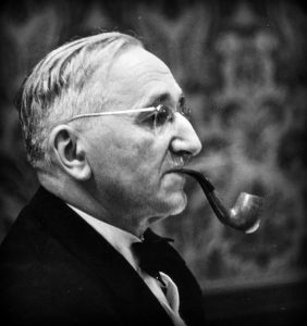 Hayek with pipe