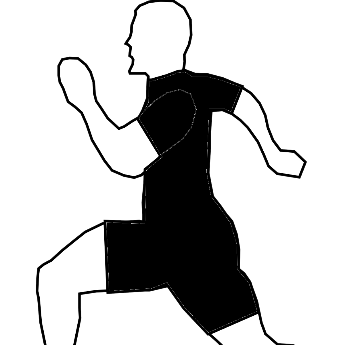Abstracted image of man running.